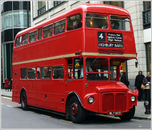 Routemaster red double decker