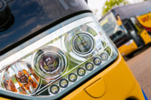Front light of coach